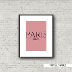 Paris France Printable Poster Instant Download by PrintablesWorld