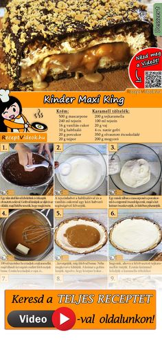 Kinder Maxi King recipe with video. Detailed steps on how to prepare this easy and simple Kinder Maxi King recipe! King Torta, Cookie Recipes, Dessert Recipes, Food Items, Sweet Tooth, Food Porn, Food And Drink, Maxi King, Yummy Food
