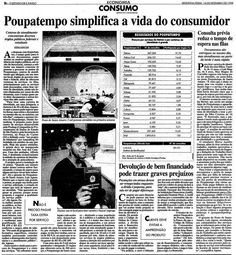 #Poupatempo no Estadão em 14 de setembro de 1998 // Acervo Estadão