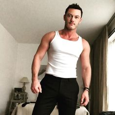 """40.9k Likes, 470 Comments - @thereallukeevans on Instagram: """"Channelling me some Brando this morning! Today is gonna be a great day. I can feel it...."""""""