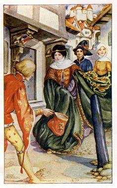 The Franklin - The Gateway to Chaucer, from The Canterbury Tales of Geoffrey Cahucer told by Emily Underdown, 1912