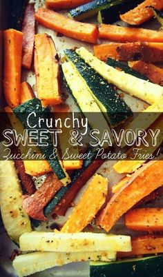 Crunchy Sweet & Savory Zucchini and Sweet Potato Fries