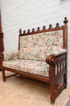 Gothic Revival settee.