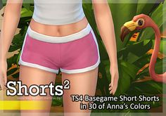 Lime Green and Purple shorts at Pixel Folk via Sims 4 Updates