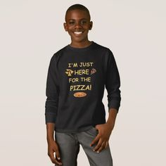 I'm Just Here For The Pizza Funny Pizza T-Shirt #christmas #kids #clothing #baby