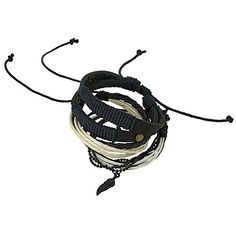 Indian Leather Rope Black and White Bead Bracelet for Men - Layered Wrap Bracelet Gift for Boyfriend ShalinIndia http://www.amazon.co.uk/dp/B00OMRYX8C/ref=cm_sw_r_pi_dp_YF4awb1KBMQ2A