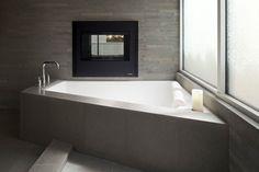 triangular grey bathtub