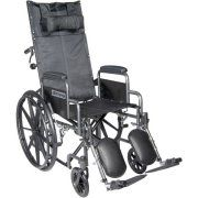 """Drive Medical Silver Sport Reclining Wheelchair with Elevating Leg Rests, Detachable Desk Arms, 16"""" Seat"""