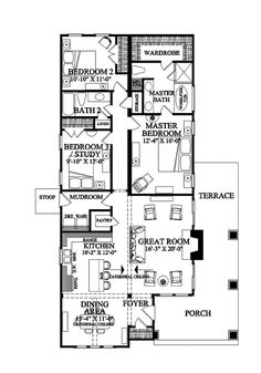 Ranch House Plan 45467 Ranch floor plans Ranch house plans and Ranch