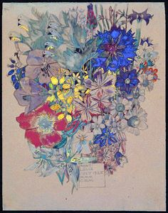 A summer bouquet from Mr & Mrs Mackintosh. 1925. https://www.facebook.com/78derngate/photos/a.377907058917041.81185.272894872751594/1131459926895080/?type=3