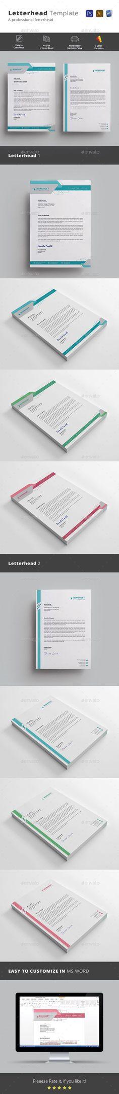 Beri sentuhan warna dan logo yang menarik di header atau footer - free word letterhead template