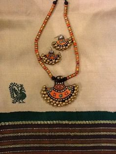 Terracotta jewelry from Color D Earth - Perfect to wear with Kancheevarams!