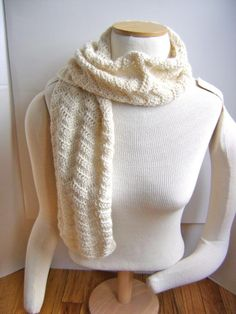 Crocheted Lace Scarf pattern!  Easy beginner pattern!