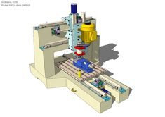 CNC Chassis concrete of - 1 Routeur Cnc, Arduino Cnc, Cnc Lathe, Cnc Router, Diy Cnc, Cnc Plans, Tool Table, Cnc Milling Machine, Cnc Projects