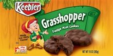 """Grasshopper Fudge Mint Cookies... Thin, crispy and minty, not sure what the 'fudge' on the box refers to, also """"made with 100% cocoa"""" is an ambiguous claim!"""