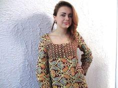 60s Vintage Woodstock India Hippie Dress Brocade by PaisleyBabylon