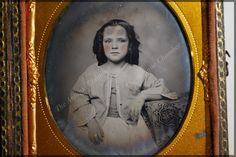 SOLD 1800's Ambrotype 1/6th Plate Young by TheAntiqueChamber