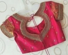 Top latest back blouse design and patterns for sarees and lehengas 2019 Blouse Patterns, Blouse Designs, Cd Crafts, Peplum, Sarees, Long Sleeve, Beauty, Mehendi, Tops