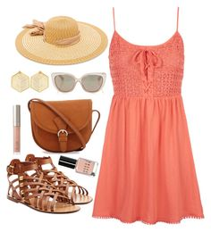 """""""Basic sundress"""" by supersquirrelgirlq ❤ liked on Polyvore featuring Topshop, Valentino, Bobbi Brown Cosmetics, Ilia, Jimmy Choo, Ashley Stewart and Kasturjewels"""