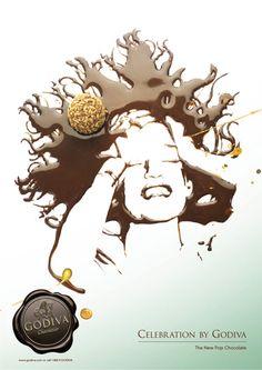 godiva chocolatier posters by jonas carlberg, via Behance