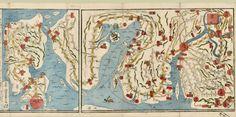 Map of Nagasawa. Alternative Title: Saiken Nagasaki dōchū hitori annai no zu. Creator: Ikeda, Tōritei Date Issued: 1831 Source: University of British Columbia Library - Rare Books and Special Collections. Japanese Maps of the Tokugawa Era.