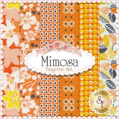 """Mimosa 6 FQ Set - Tangerine by Another Point of View for Windham Fabrics: Mimosa is a collection by Another Point of View for Windham Fabrics. 100% Cotton. This set contains 6 fat quarters, each measuring approximately 18"""" x 21""""."""