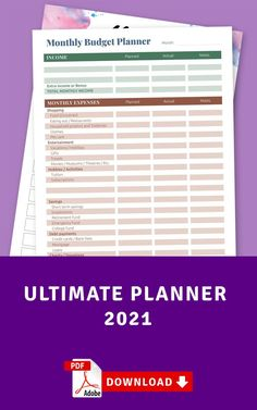 This Budget And Finance Planner will help you stay on top of all your bill payments, make sure you never miss a payment again and help you plan ahead when it comes to budgeting. Keep track of your monthly payments! It comes in a ready-to-print format or use with Noteshelf, Notability, Goodnotes and Xodo for your for your iPad, so you can start using it today. #budget #bill #worksheet #template #bills Budget Sheet Template, Family Budget Template, Planner Template, Printable Planner, Home Budget Planner, Monthly Budget, Bank Fees, Budget Sheets, College Fund