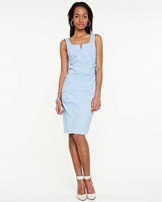 Bengaline V-neck Dress xxsmall