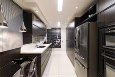 12 Cozinhas decoradas de preto e branco - veja modelos lindos e dicas de como decorar! - Decor Salteado - Blog de Decoração e Arquitetura