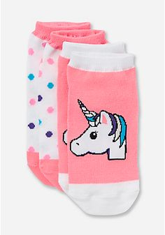 2 Pack Unicorn Ankle Socks