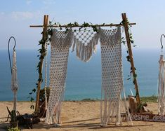 Macrame Backdrop, Wedding Backdrop, Backdrop, 4ft by 9ft, Boho Wedding, Modern Macrame, Bohemian Wedding