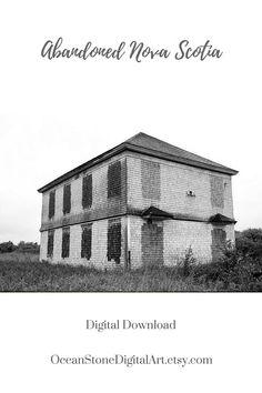 Abandoned Schoolhouse Rustic Home Decor Old School Digital