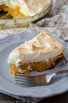 Sweet Potato Caramel Meringue Pie