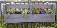 Mia Bella Passions: Upcycled Pallet Hanging Planter Box...