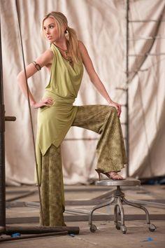Women's Halter Dress, by Rebecca Bruce, Style D-139 Lime by RebeccaBruce on Etsy
