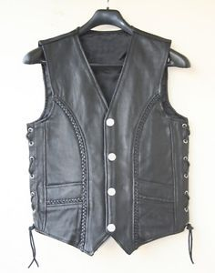para hombre de cuero moto motociclista riding trenzado chaleco nuevo todos los tamanos - Categoria: Avisos Clasificados Gratis  Estado del Producto: New with tagsMENS LEATHER VESTMADE IN THICK GENUINE LEATHER02 OUTSIDE POCKETS02 LINING POCKETSSIDE LACESMEASURE YOUR CHEST ARMPIT TO ARMPIT AND THEN ORDER REQUIRED SIZEBUY FROM AVAILABLE SIZES ONLYVERY FEW PIECES LEFT IN STOCKWE DO COMBINE SHIPPING AND OFFER SHIPPING DISCOUNTS, BUY MORE AND SAVE MOREValor: Ver Producto
