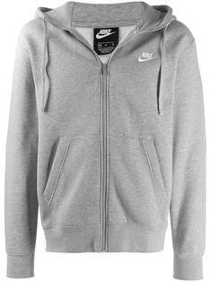 Nike zip up swoosh hoodie - Grey
