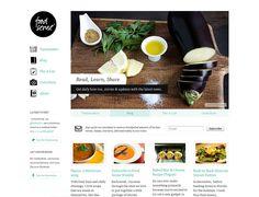 Clean website design example: Food Sense