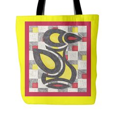 Red & Yellow Rubber Ducky Tote Bag