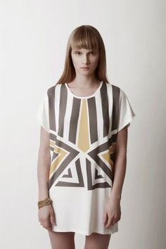 african print organic bamboo T #triangle $54 from Sense of Fashion