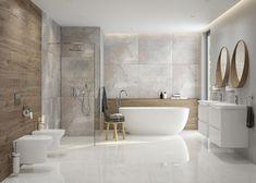 Bathroom Design Inspiration, Bathroom Interior Design, Bathroom Renos, Bathrooms, Home Decor Kitchen, Modern Bathroom, My Dream Home, Bathtub, Haifa