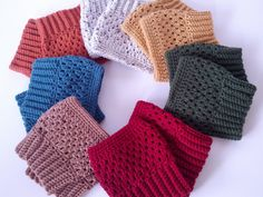 SALE....2 pairs crochet boot cuffs ... colors of by ChildCrochet, $25.00