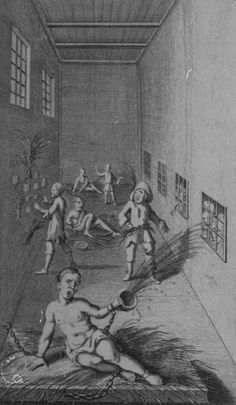 In the middle ages asylums were more like prisons with patients chained to walls in horrible dungeons. People could pay a small price to go inside and see the patients for entertainment, even went as far as poking them with sticks, taunting them.