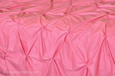 How to make a pin tucked duvet cover using sheets! So simple!