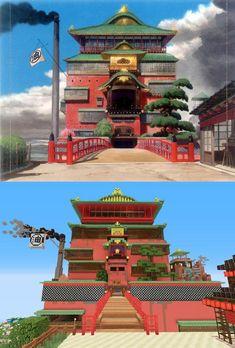 Visitez l'univers de Miyazaki recréé sous Minecraft