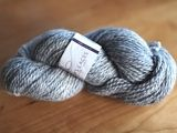 A skein of Masham Worsted: Lorna's Laces sold by Jimmy Beans Wool, 70% British wool/30% Masham wool, 4 sts/in on US 7 or 8, 100g/170yds, $18.50. Handwash, lay flat.