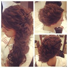 Side pony with curls Sweet 16 Hairstyles, Side Pony, Special Occasion Hairstyles, Curls, Dreadlocks, Long Hair Styles, Beauty, Long Hairstyle, Side Ponytails