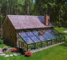 A greenhouse attached to the house how cool is that!