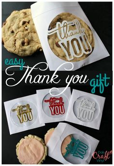 I've mentioned it time and time again….i'm cheap I'm always in constant need of quick little ways to say thank you! This is actually a cd case….and some cute thank you vinyl. Just add a cookie!! GO HERE! you can go here to see another easy thank you: