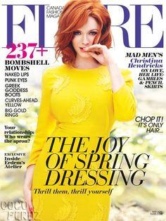 Christina Hendricks covers Flare magazines May 2013 issue.